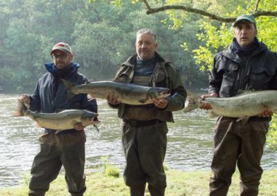 Los tres primeros salmones del río Ulla de la temporada 2018