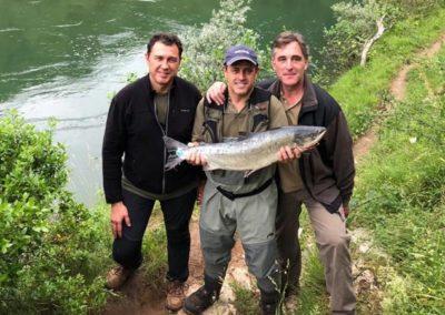 Ignacio Olarreaga, salmón en el Collú